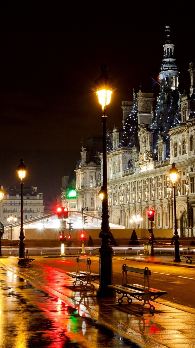 Paris France Hotel City Street Night Road Lights 750x1334 Iphone 8 7 6 6s Wallpaper Background Picture Image