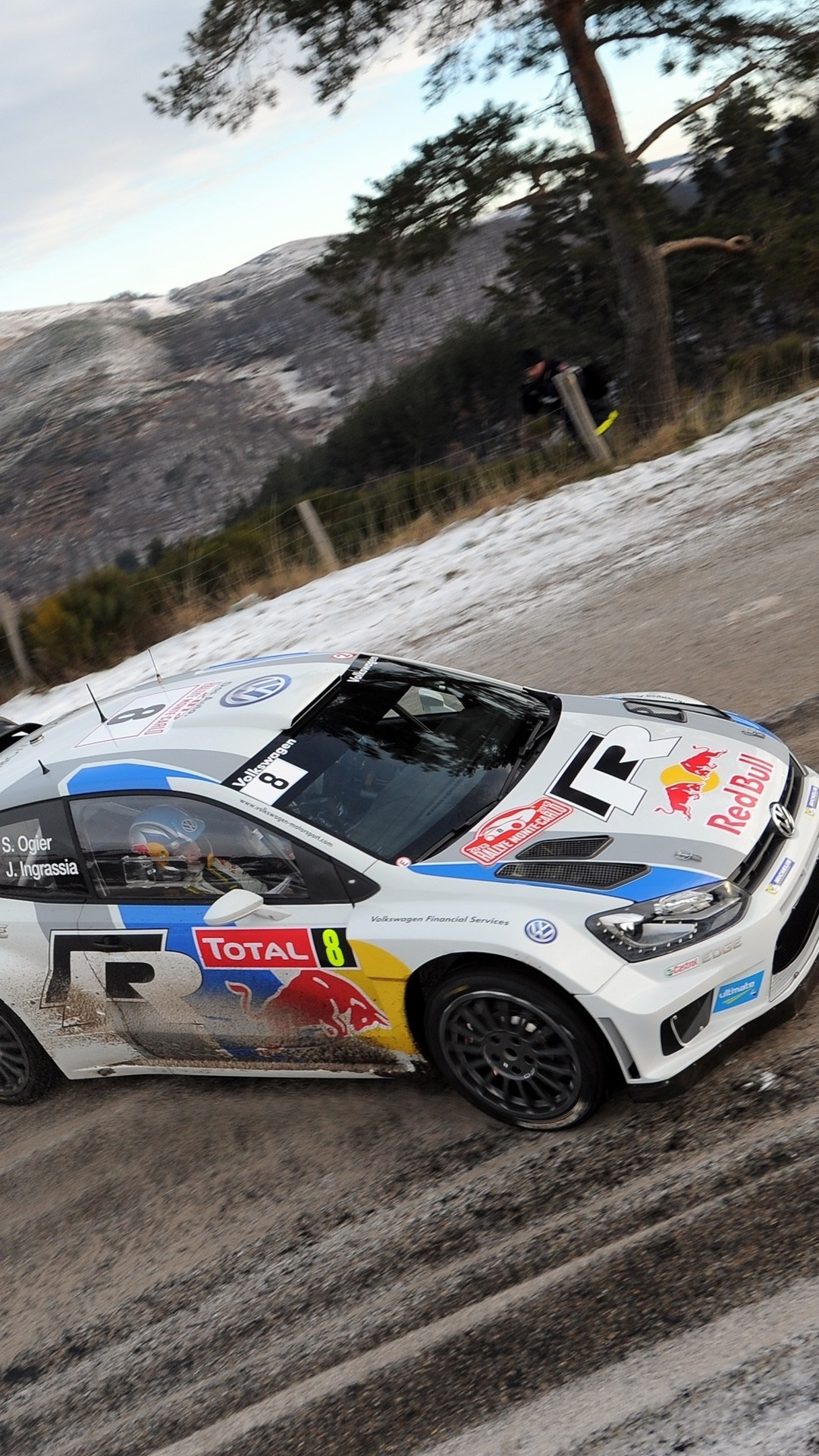 Rally Volkswagen Polo Car Winter 1080x1920 Iphone 8 7 6 6s Plus