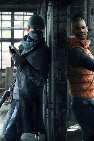 iPhone Wallpaper Watch Dogs, PC game, Ubisoft