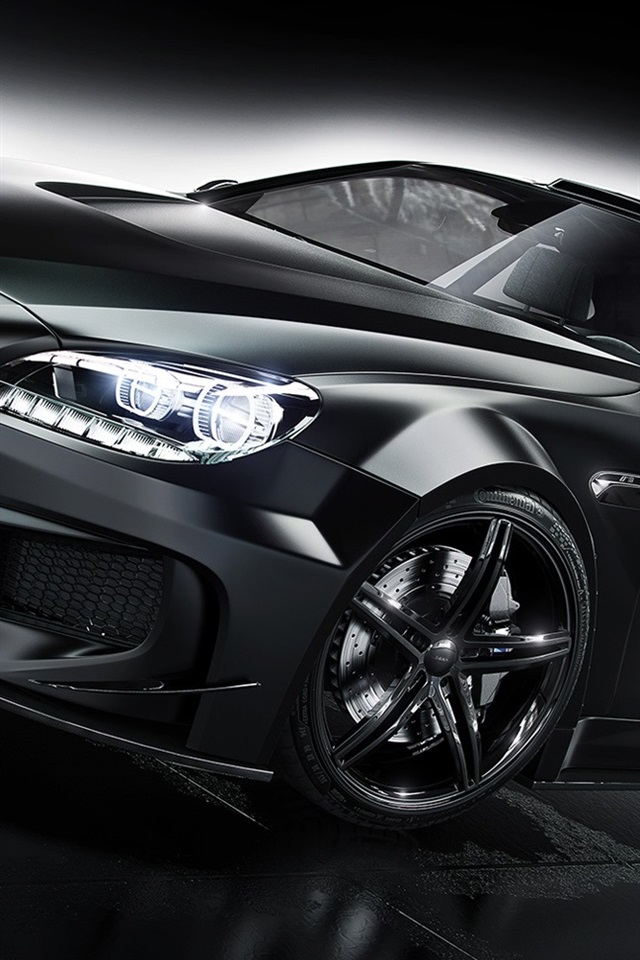 Bmw M6 Black Car 640x960 Iphone 4 4s Wallpaper Background