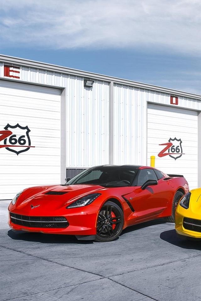 Fonds D 233 Cran Chevrolet Corvette C7 Stingray Supercars