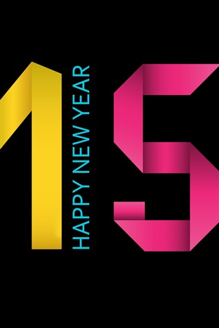 iPhone Wallpaper Colorful 2015, Happy New Year