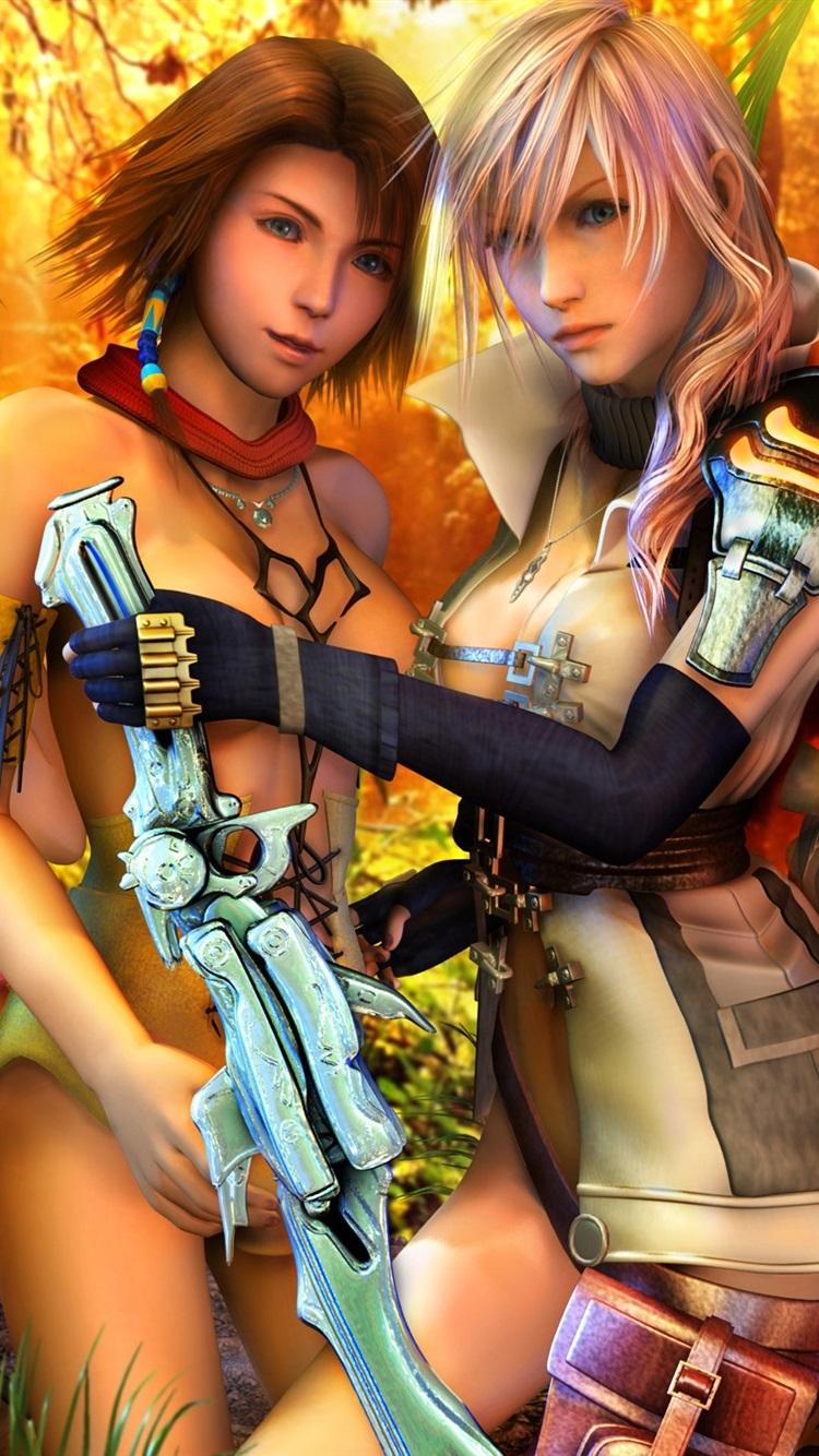 Final Fantasy Xiii Muchachas Hermosas 750x1334 Iphone 876