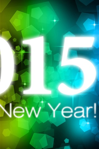 iPhone Wallpaper Happy New Year 2015, colorful background