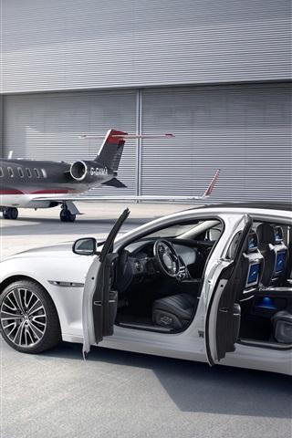 iPhone Wallpaper Jaguar supercar, plane