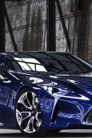 iPhone Wallpaper Lexus LF-LC blue concept car front view