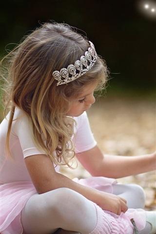 iPhone Wallpaper Little girl, wish, autumn