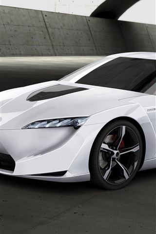 iPhone Wallpaper Toyota FT-HS concept white car