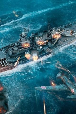 iPhone Papéis de Parede Mundial de navios de guerra, navios, lutador