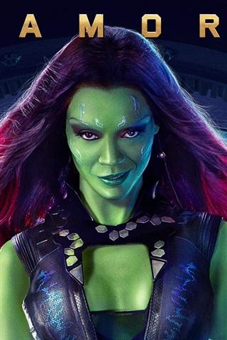 iPhone Wallpaper Zoe Saldana, Guardians of the Galaxy