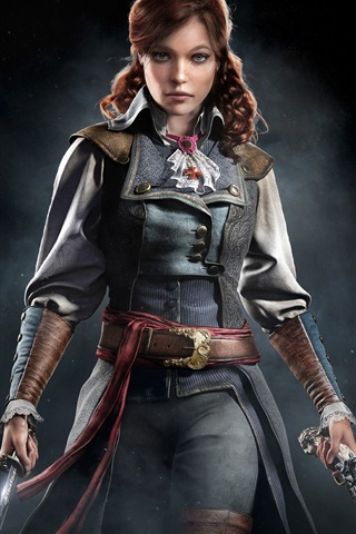 iPhone Wallpaper Assassin's Creed: Unity, Eliza, girl