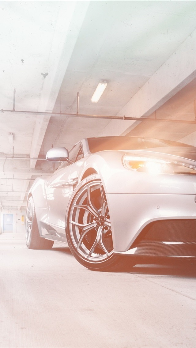 Aston Martin Vanquish Silver Car Front View 750x1334 Iphone 8 7 6 6s Wallpaper Background Picture Image