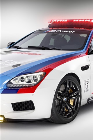 iPhone Wallpaper BMW M6 safety car