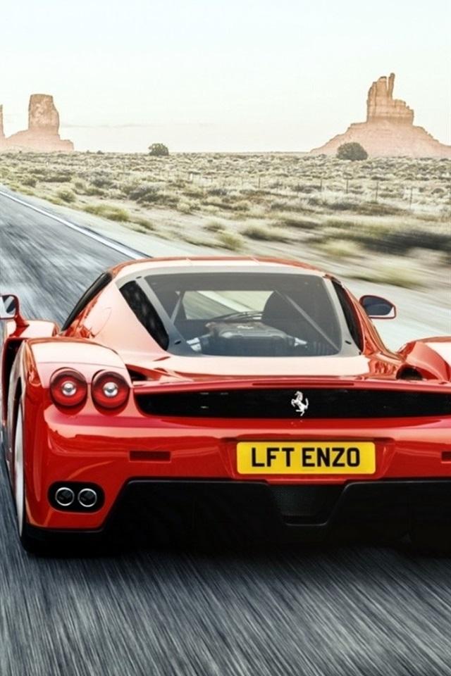 Ferrari F50 Enzo Red Supercar 640x960 Iphone 4 4s Wallpaper