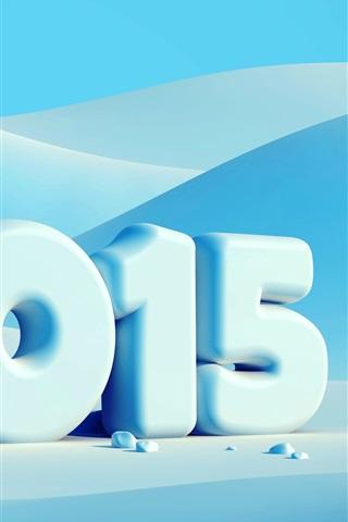 iPhone Wallpaper Happy New Year 2015, winter, snow