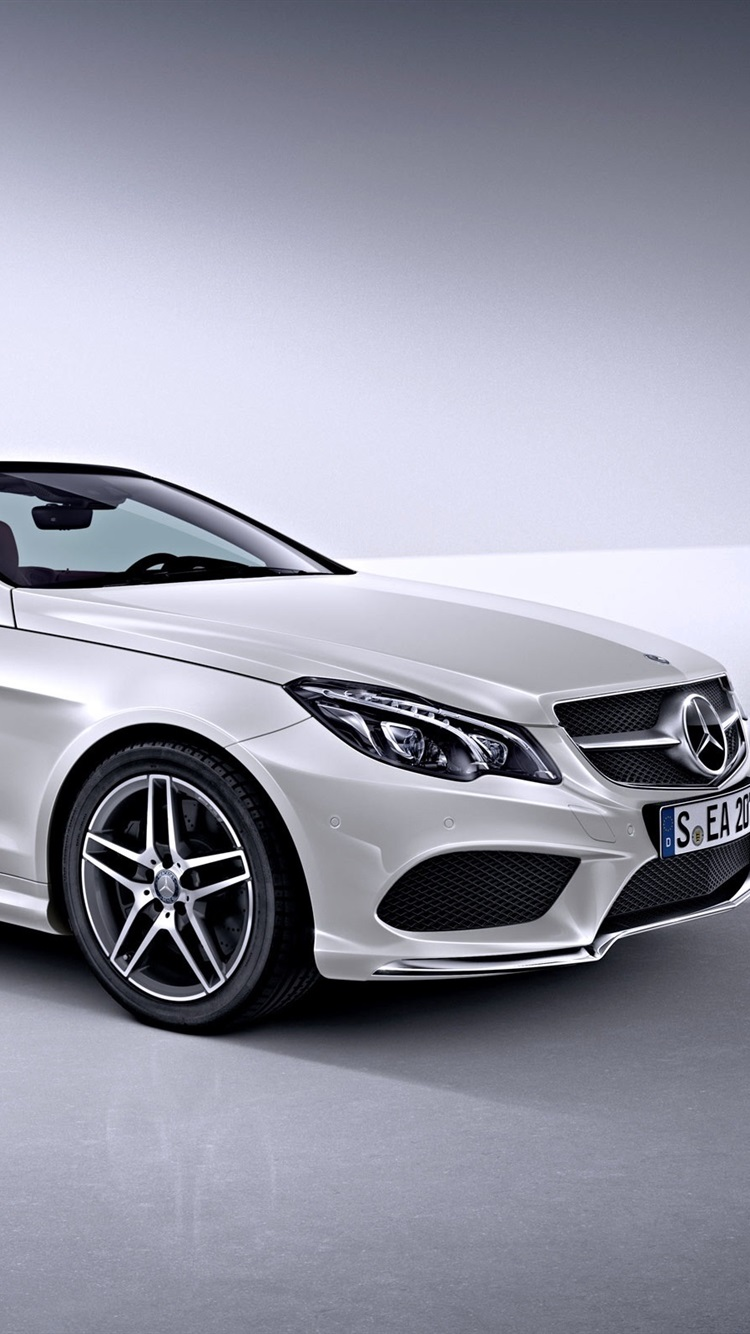 Mercedes Benz E Class white car 21x21 iPhone 21/21/21/21S wallpaper ...