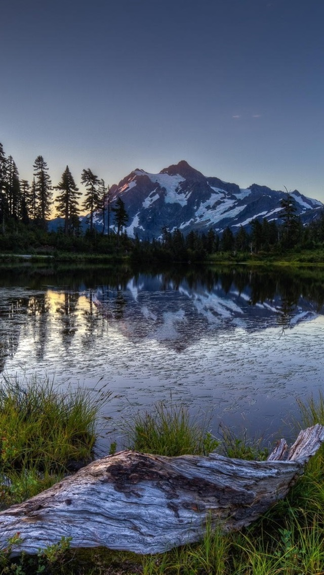 Morning Lake Mountain Forest Sunrise 640x1136 Iphone 5