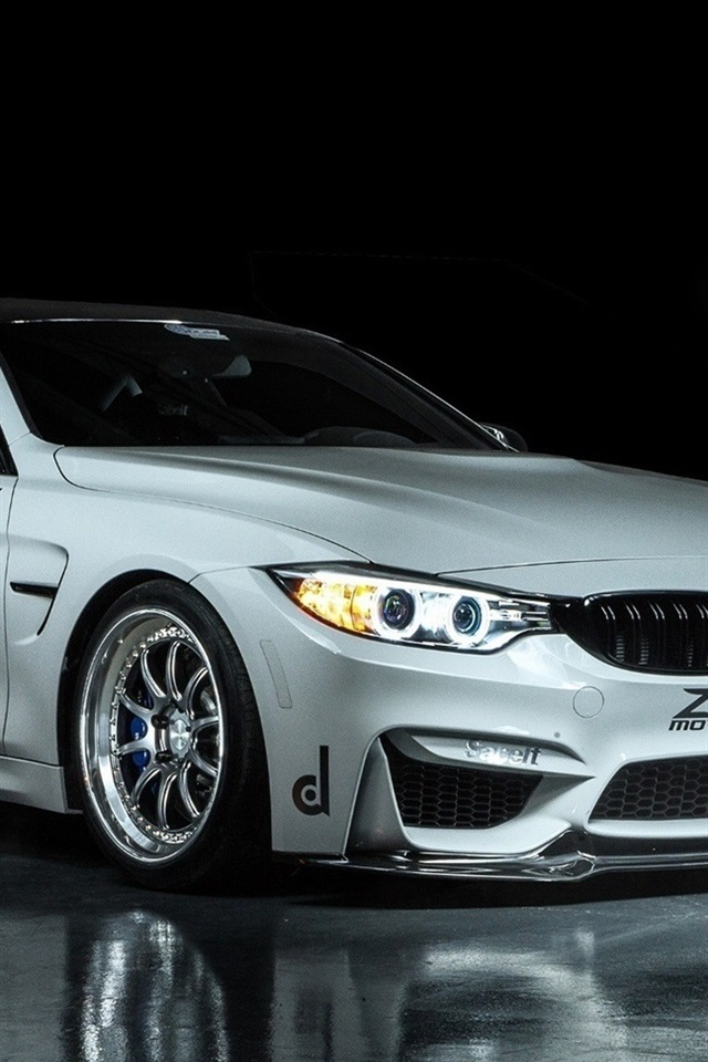 Bmw M4 Coupe F82 White Car 640x960 Iphone 4 4s Wallpaper Background
