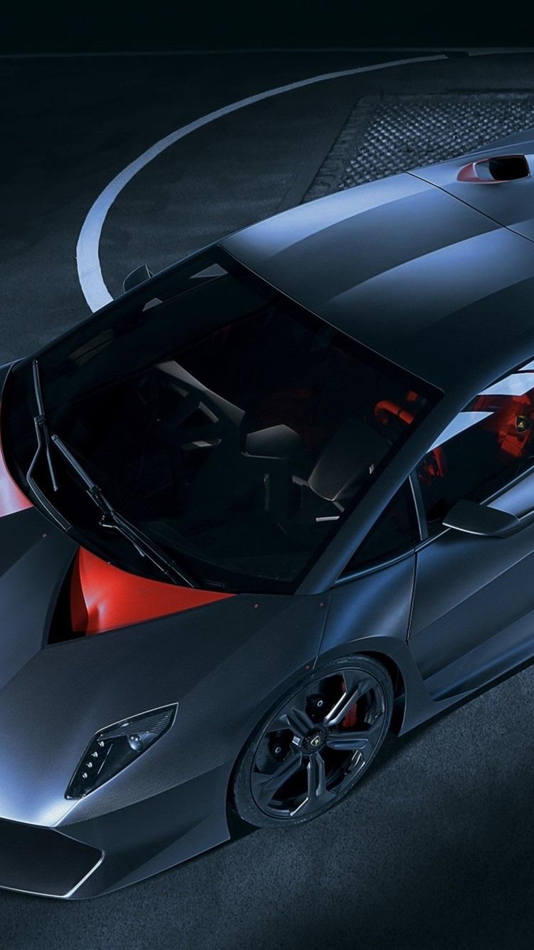 Lamborghini Sesto Elemento Blue Supercar 750x1334 Iphone 8 7 6 6s