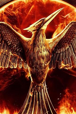 The Hunger Games Mockingjay Part 1 Bird Fire 750x1334