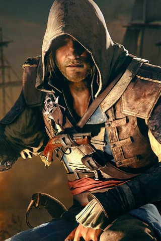 iPhone Wallpaper Assassin's Creed IV: Black Flag, Edward