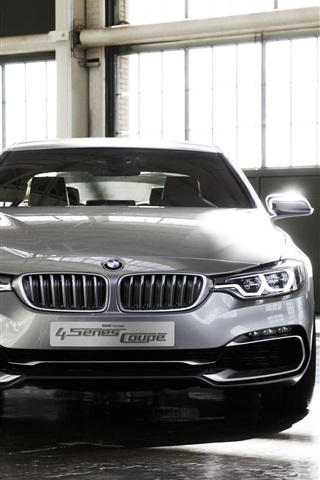 iPhone Wallpaper BMW 4 Series Coupe concept car front view