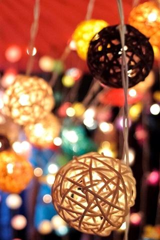 Lanterns Lights Colored Bokeh 640x1136 Iphone 5 5s 5c Se