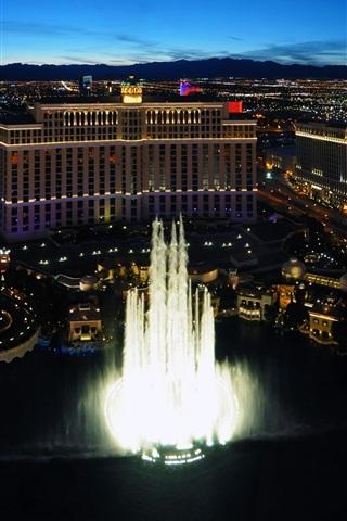 iPhone Wallpaper Las Vegas, USA, city, buildings, night lights