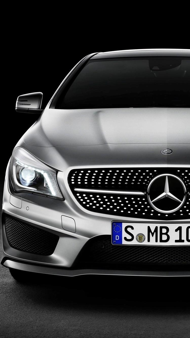 Fondos De Pantalla Vista Delantera Del Coche De Mercedes