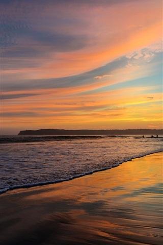 iPhone Wallpaper San Diego, California, USA, beach, ocean, sunset