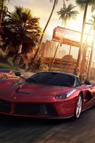 iPhone Wallpaper The Crew PC game, Ferrari, Nissan, Lamborghini