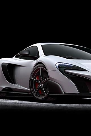 iPhone Wallpaper 2015 McLaren 675LT white supercar