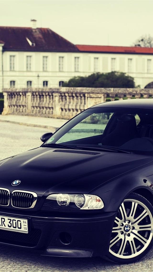 Bmw M3 E46 Black Car 640x1136 Iphone 5 5s 5c Se Wallpaper Background Picture Image