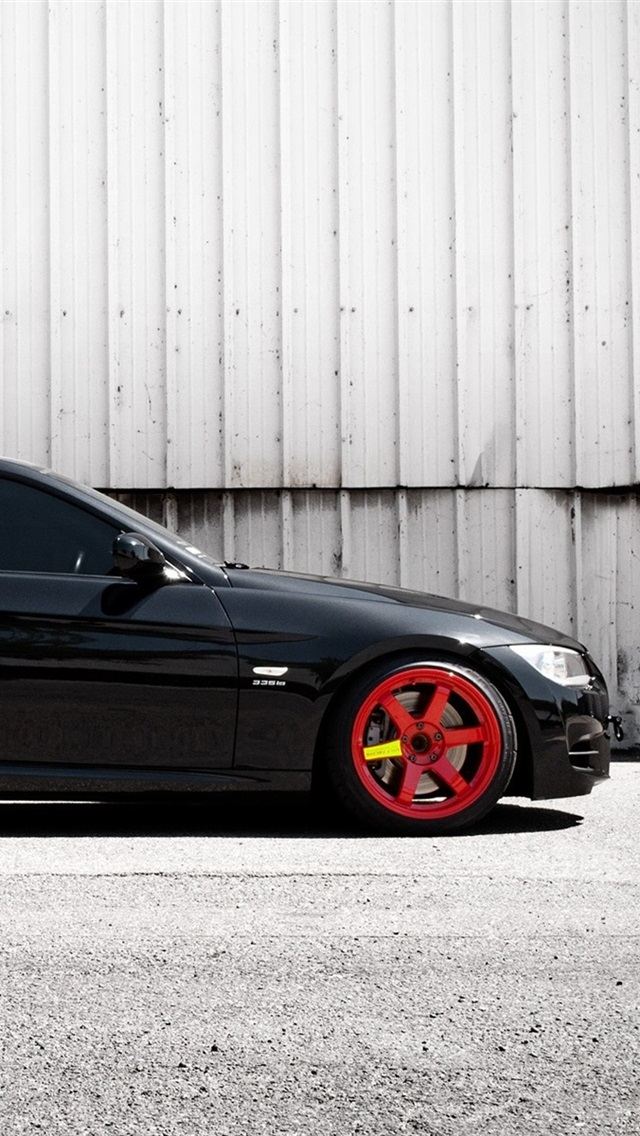 Bmw Black E92 335i Car Side View 640x1136 Iphone 5 5s 5c Se Wallpaper Background Picture Image