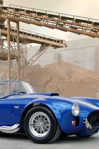 iPhone Wallpaper 1963 Shelby Cobra CSX 4000 427 SC blue car