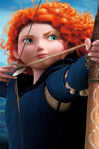 iPhone Wallpaper Brave, cartoon movie, Merida, archer