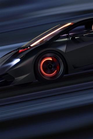 Lamborghini Sesto Elemento Supercar Speed 640x960 Iphone 4 4s