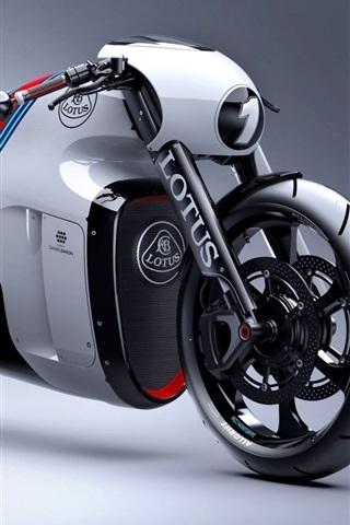 iPhone Wallpaper Lotus C-01 motorcycle