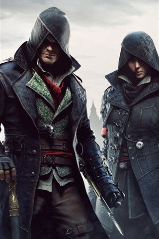iPhone Wallpaper Assassin's Creed: Syndicate, city, fog
