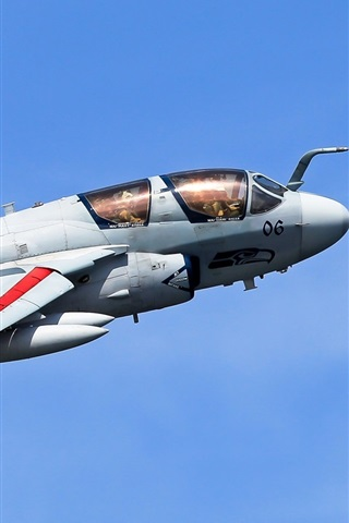 iPhone Wallpaper Grumman EA-6B Prowler, airplane, sky