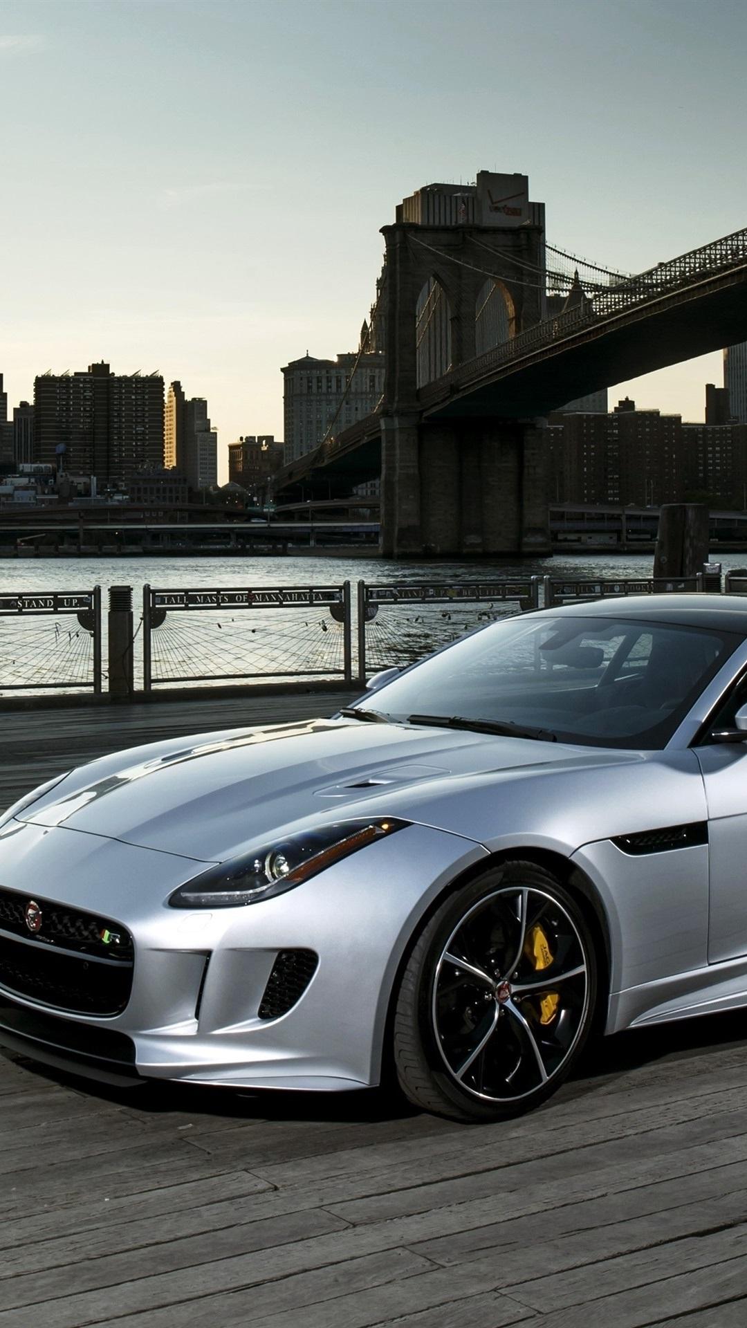 21 Jaguar F Type R silver car 21x21 iPhone 21/21/21/21S Plus ...