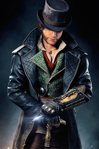 iPhone Wallpaper Assassin's Creed: Syndicate, hat, coat