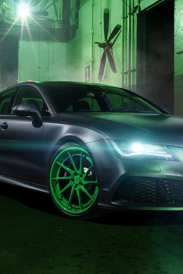 Audi Rs Car Headlights Night Iphone X