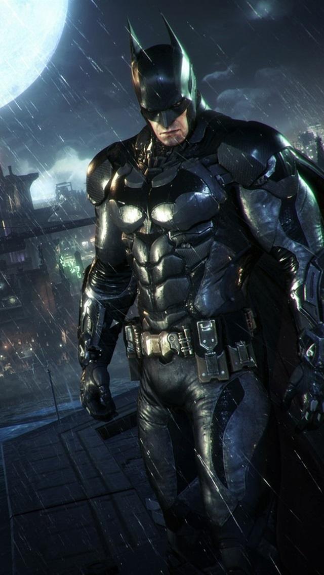 batman arkham knight chuva noite 640x1136 iphone 55s