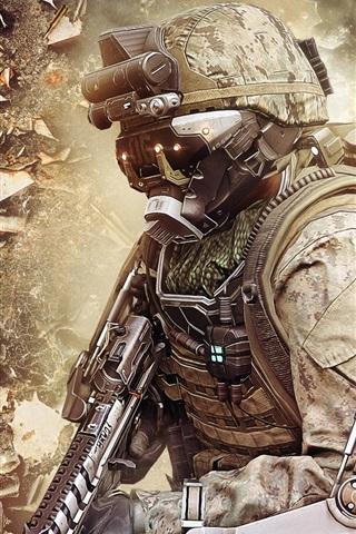 iPhone Papéis de Parede Call of Duty: Avançado guerra, soldado e equipamentos