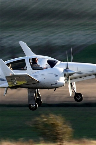 iPhone Wallpaper Diamond DA42, twin-engine, aircraft