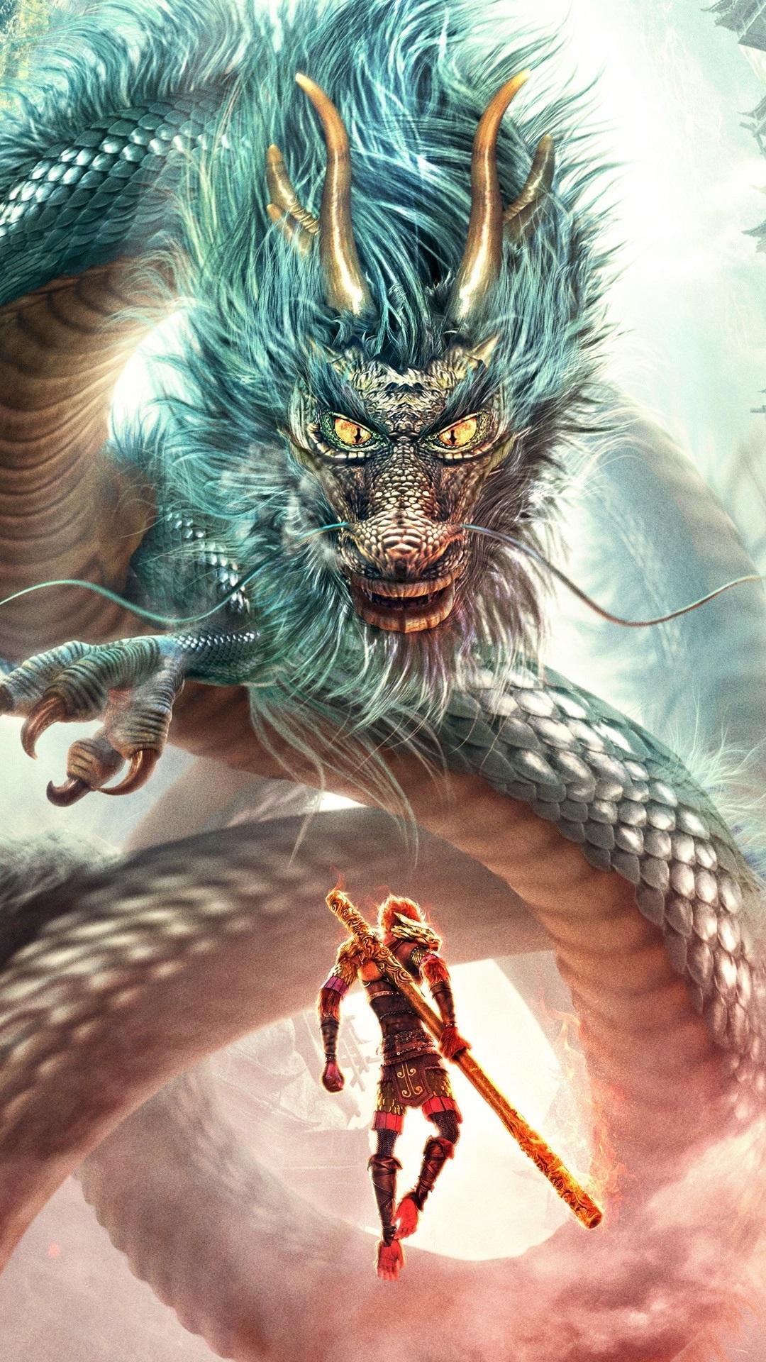 Дракон с обезьяной картинка