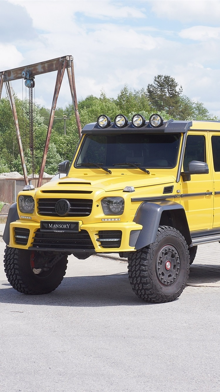 2015 Mercedes Benz G63 Amg 6x6 Yellow Car 750x1334 Iphone 8 7 6 6s Wallpaper Background Picture Image