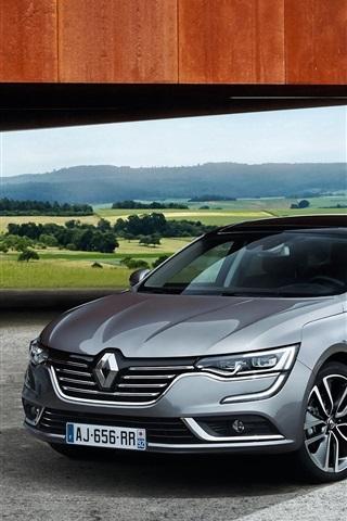 iPhone Wallpaper 2015 Renault Talisman gray car