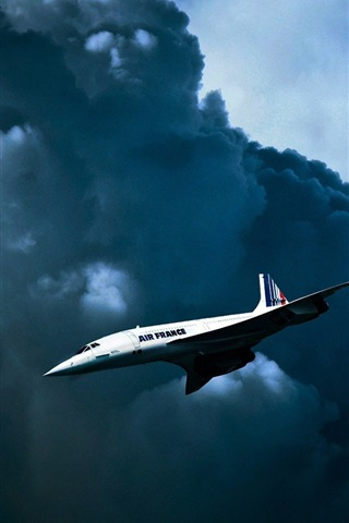 iPhone Wallpaper Air France, British-French supersonic passenger plane